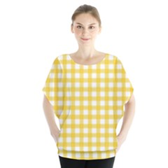 Deep Yellow Gingham Classic Traditional Pattern Blouse