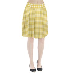 Deep Yellow Gingham Classic Traditional Pattern Pleated Skirt