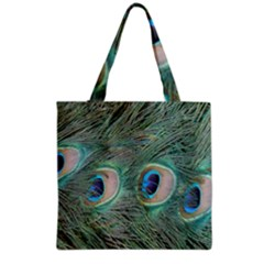 Peacock Feathers Macro Grocery Tote Bag