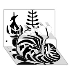 Emblem of New Caledonia Miss You 3D Greeting Card (7x5)