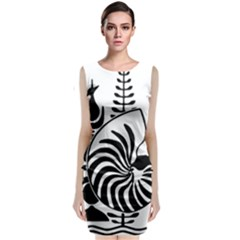 Emblem Of New Caledonia Classic Sleeveless Midi Dress