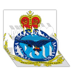 Crest of Royal Malaysian Air Force Miss You 3D Greeting Card (7x5)