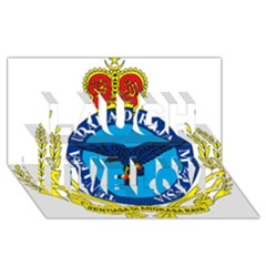 Crest Of Royal Malaysian Air Force Laugh Live Love 3d Greeting Card (8x4)