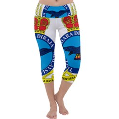 Crest Of Royal Malaysian Air Force Capri Yoga Leggings