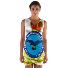 Crest Of Royal Malaysian Air Force Wrap Front Bodycon Dress