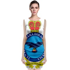 Crest Of Royal Malaysian Air Force Classic Sleeveless Midi Dress