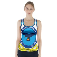 Crest Of Royal Malaysian Air Force Racer Back Sports Top