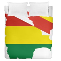 Flag Map Of Bolivia Duvet Cover Double Side (queen Size)