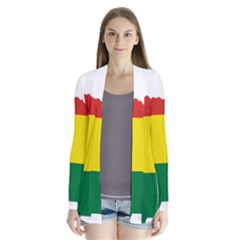Flag Map Of Bolivia Drape Collar Cardigan