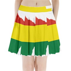 Flag Map Of Bolivia Pleated Mini Skirt