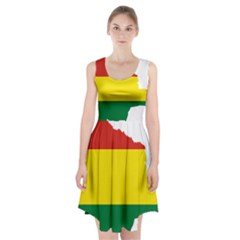 Flag Map Of Bolivia Racerback Midi Dress