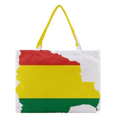 Flag Map Of Bolivia Medium Tote Bag