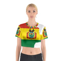Flag Map of Bolivia  Cotton Crop Top