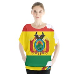 Flag Map Of Bolivia  Blouse