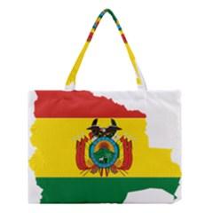 Flag Map of Bolivia  Medium Tote Bag