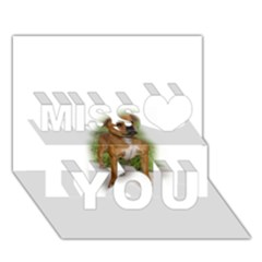 Staffordshire Bull Terrier Full Miss You 3D Greeting Card (7x5)