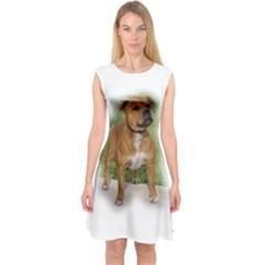 Staffordshire Bull Terrier Full Capsleeve Midi Dress