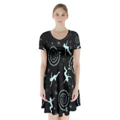 Dizzy With Dysautonomia Short Sleeve V Neck Flare Dress