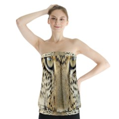 Leopard Face Strapless Top