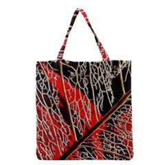 Leaf Pattern Grocery Tote Bag