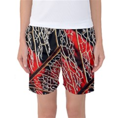 Leaf Pattern Women s Basketball Shorts