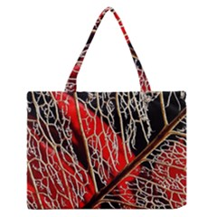 Leaf Pattern Medium Zipper Tote Bag