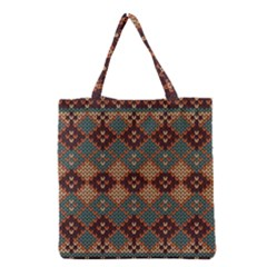Knitted Pattern Grocery Tote Bag