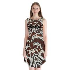 Javanese Batik Sleeveless Chiffon Dress