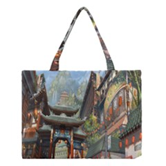 Japanese Art Painting Fantasy Medium Tote Bag