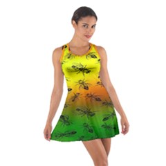 Insect Pattern Cotton Racerback Dress