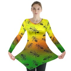 Insect Pattern Long Sleeve Tunic