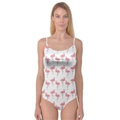 Pink Flamingo Pattern Camisole Leotard
