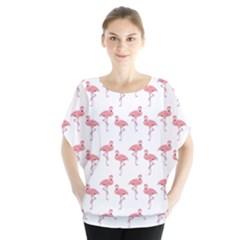 Pink Flamingo Pattern Blouse