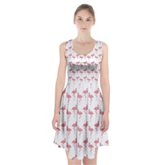 Pink Flamingo Pattern Racerback Midi Dress