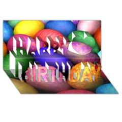 Easter Egg Happy Birthday 3d Greeting Card (8x4)