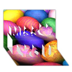 Easter Egg Miss You 3d Greeting Card (7x5)