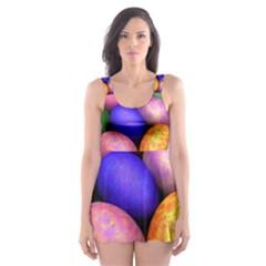 Easter Egg Skater Dress Swimsuit
