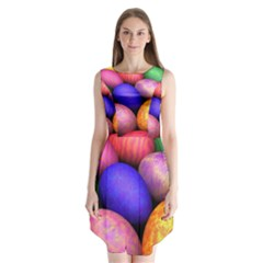 Easter Egg Sleeveless Chiffon Dress