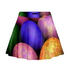 Easter Egg Mini Flare Skirt