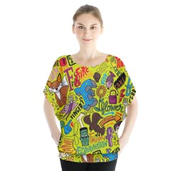 F Pattern Cartoons Blouse