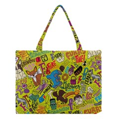 F Pattern Cartoons Medium Tote Bag