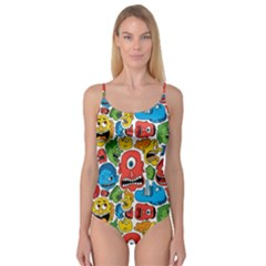 Face Creeps Cartoons Fun Camisole Leotard