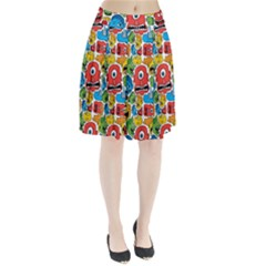 Face Creeps Cartoons Fun Pleated Skirt