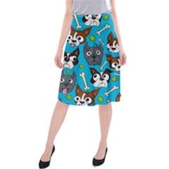 Face Dog And Bond Midi Beach Skirt