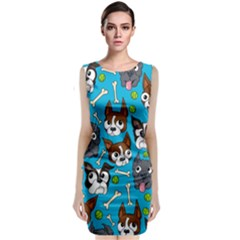Face Dog And Bond Classic Sleeveless Midi Dress