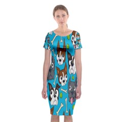 Face Dog And Bond Classic Short Sleeve Midi Dress
