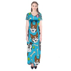 Face Dog And Bond Short Sleeve Maxi Dress