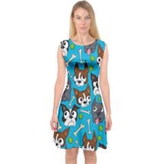 Face Dog And Bond Capsleeve Midi Dress