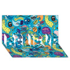 Gettinloose Believe 3d Greeting Card (8x4)