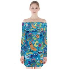 Gettinloose Long Sleeve Off Shoulder Dress